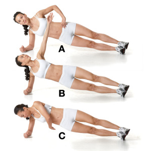 Side Plank Oblique Twist