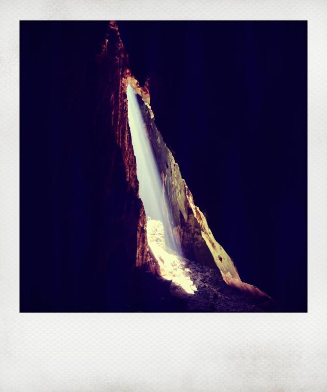 dark caves polaroid