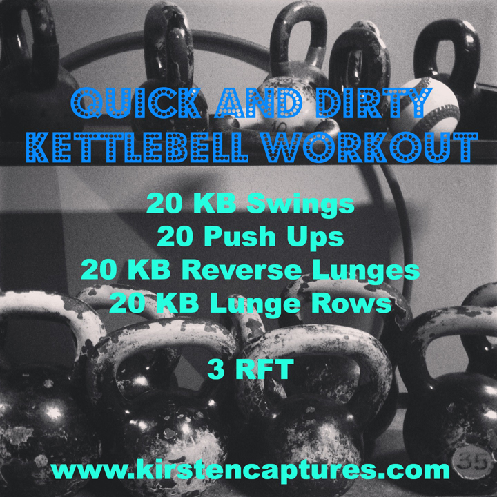 quick and dirty kettlebell workout