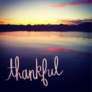 thankful sunset