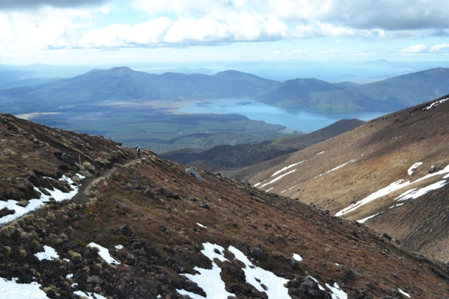 At the top of the world, Tongariro Crossing, New Zealand