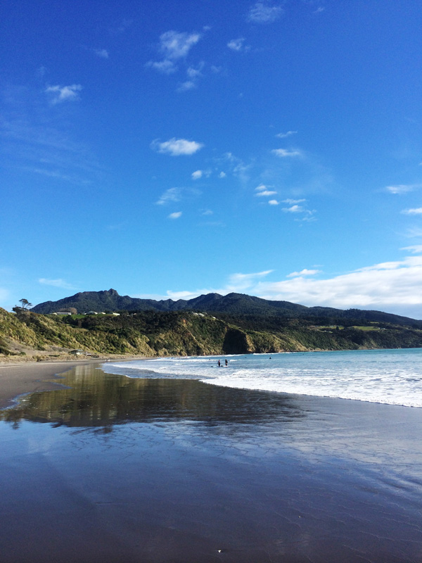 Bright and blue in Raglan, New Zealand