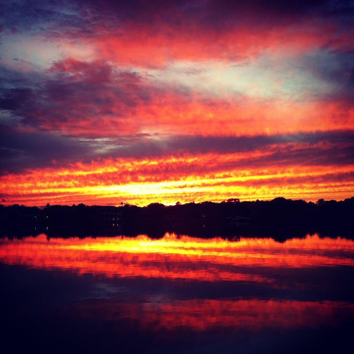 Brilliant sunset in St. Petersburg, Florida