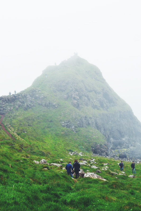 Foggy day at Giant's Causeway, Northern Ireland