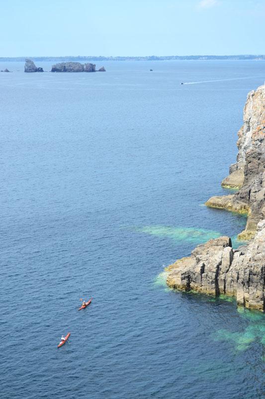Kayakers in Breton, France