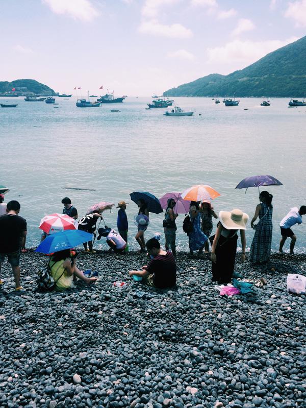 Rocky beach in Zhoushang, China