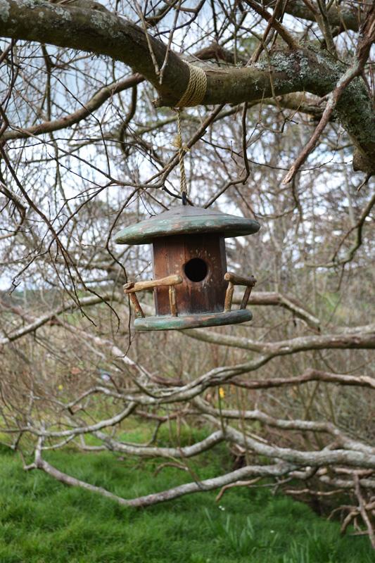 Wooden birdhouse in Hobbiton, New Zealand
